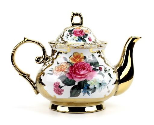 China teapot isolated on white background